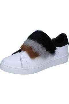 Baskets Islo sneakers blanc cuir fourrure BZ211(88470235)