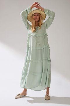 DeFacto Kadın Fıfırlı Dokuma Elbise(125925265)
