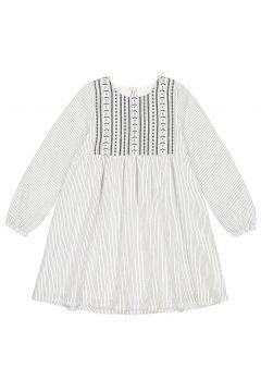Vestido de manga larga a rayas y bordado, 3-12 años(108827915)