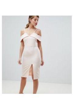 Oasis - Vestito midi a fascia con spalle scoperte-Beige(120302638)