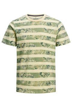 JACK & JONES Botanische Print T-shirt Heren Geel(112257467)