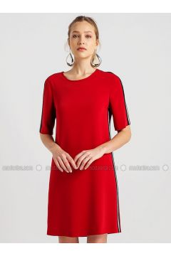 Red - Crew neck - Dresses - NG Style(110341238)
