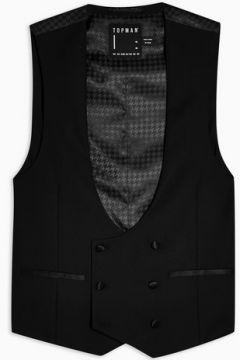 Gilet de costume noir avec boutonnage croisé(98211934)