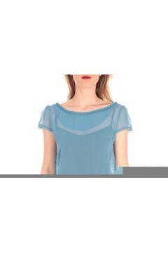 T-shirt Aggabarti t-shirt voile121072 bleu(88502804)