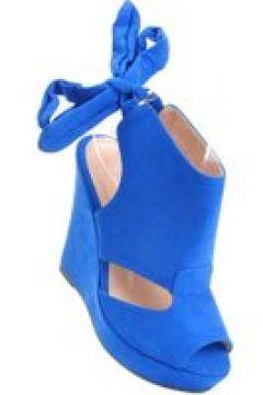 Pantofelek24.pl | Efektowne buty na koturnie NIEBIESKIE(112082838)