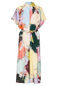 Dress W. Tubular Ring Detail Kleid Knielang Bunt/gemustert COSTER COPENHAGEN(114163975)