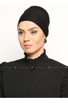 Tie Back Bonnet - Black - Busra Anil(110343613)