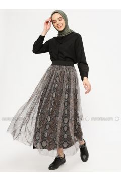 White - Ecru - Multi - Fully Lined - Skirt - XTREND(110336535)