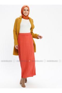 Terra Cotta - Unlined - Acrylic -- Skirt - Loreen By Puane(110336385)