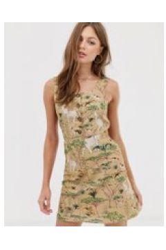 Mango - Kleid mit Safari-Print und Knopfleiste - Braun(95026782)
