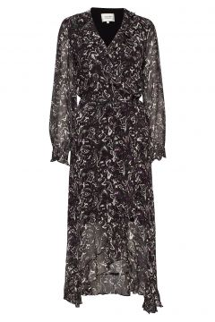 Sand Wrap Maxi Dress Maxikleid Partykleid Schwarz SECOND FEMALE(114163779)