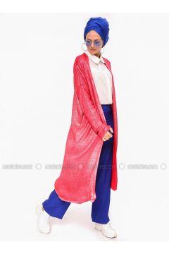 Red - Acrylic -- Cardigan - Por La Cara(110318413)