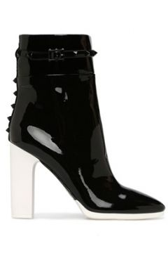 Valentino Garavani Kadın Siyah Beyaz Deri Bot 36 EU(118488486)
