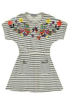 Gestreiftes Kleid mit Stickerei Domo(117934162)
