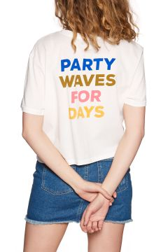T-Shirt à Manche Courte Femme Billabong Party Waves - Salt Crystal(118484491)