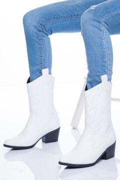 Steven Kadın Beyaz Cilt Çizme(119370462)