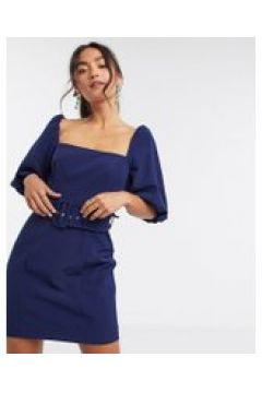 Forever New - Vestito corto blu navy con maniche a sbuffo(120328978)