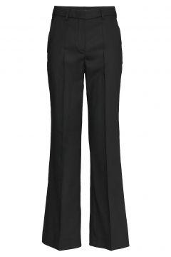Woven Suit Pant Hosen Mit Weitem Bein Schwarz RABENS SAL R(99080555)