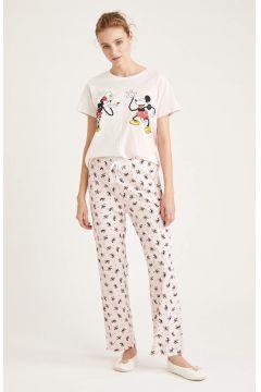 DeFacto Kadın Mickey Mouse Lisanslı Pijama Takımı(125932148)