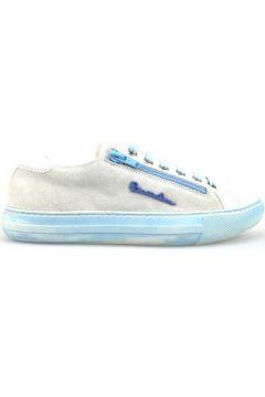 Chaussures Braccialini sneakers blanc daim celeste cuir AH369(115395260)