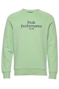 M Original Crew Sweat-shirt Pullover Grün PEAK PERFORMANCE(116611846)