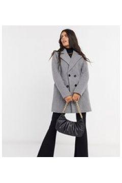 Fashion Union Petite - Cappotto doppiopetto-Grigio(122835498)