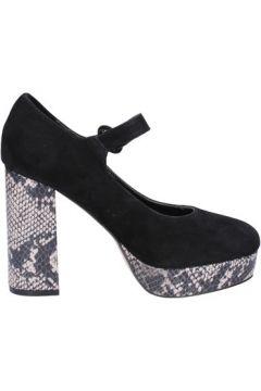 Chaussures escarpins Emanuélle Vee escarpins noir daim BX384(115442549)