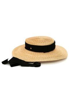 Inverni Kadın Bej Siyah Bantlı Hasır Şapka EU(114438720)