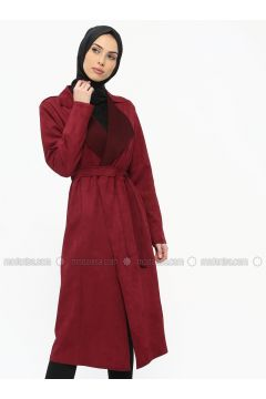 Cherry - Unlined - Shawl Collar - Topcoat - ECESUN(110322431)