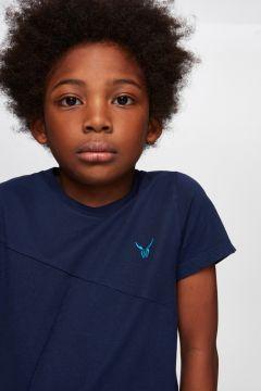 Nebbati B&G Lacivert Erkek Çocuk T-Shirt(114005888)