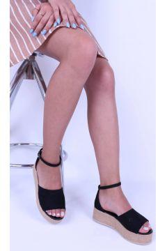 Derigo Siyah Kadın Dolgu Topuk Terlik(124525951)