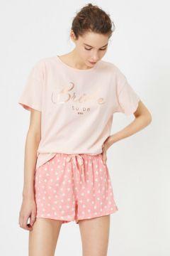 Koton Kadın Bridal Temali Pamuklu Pijama Takimi(114436880)