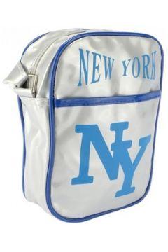 Sac Bandouliere Hip Hop Honour Sacoche NY Grise et Bleue streetwear(115396906)