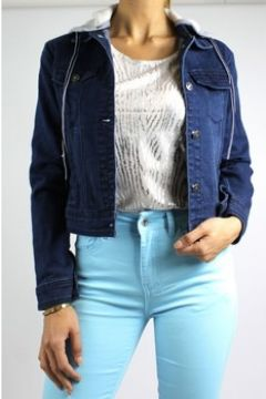 Veste Kebello Blouson en jeans F Bleu(115542908)