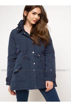 Blue - Coat - DeFacto(110324554)