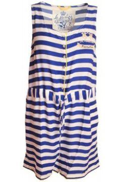 Robe La Martina Combinaison short bleu Portofino pour femme(88442718)