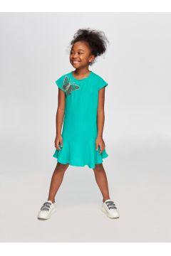 Tyess B&G Yeşil Kız Çocuk Elbise(114005949)