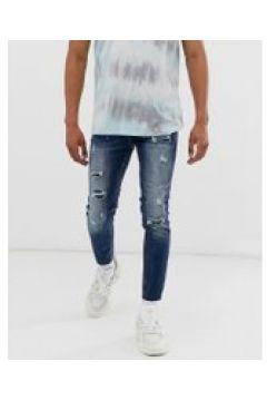 Sixth June - Enge Jeans mit Abnutzungseffekten in Mittelblau - Blau(95027386)