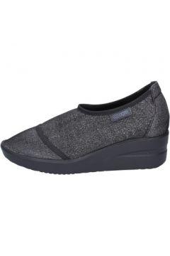 Chaussures Agile By Ruco Line slip on mocassins noir textile BT429(115442815)