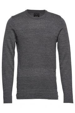 Fisherman Knitted Jumper Strickpullover Rundhals Grau JUNK DE LUXE(114153214)