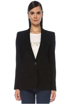Balmain Kadın Siyah Tek Düğmeli Blazer Ceket 36 FR(118603804)
