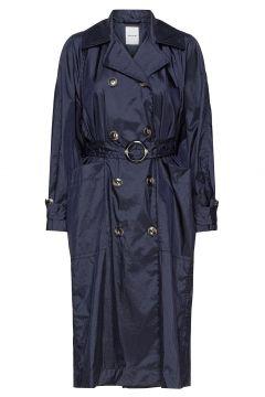 Karin Trench Coat Trenchcoat Mantel Blau WOOD WOOD(119350334)