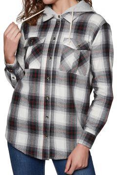 SWELL Hooded Damen Hemd - Black Check(100260435)