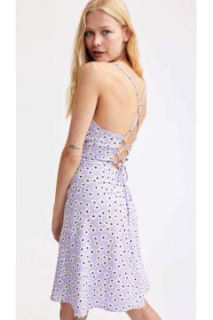 DeFacto Kadın Midi Boy İp Askılı Dokuma Elbise(125931291)