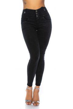 Basic High Waist Jeggings in Jeans-Optik(113750535)