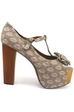 Sandales Jeffrey Campbell sandales blanc textile gris ap668(115443185)