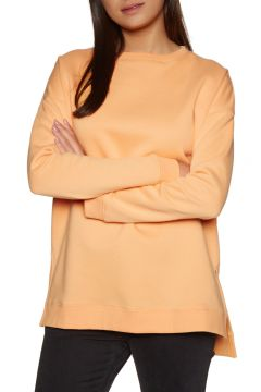 SWELL Bricklane Boyfriend Side Split Crew Damen Pullover - Apricot(100259137)