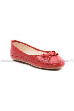 Red - Flat - Flat Shoes - Sapin(110325778)