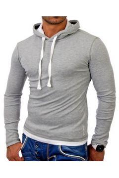 Sweat-shirt Monsieurmode Sweat capuche sport homme Sweat TZ1003 gris(115398293)