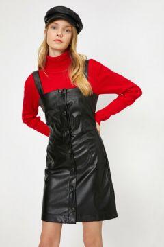 Koton Kadın Deri Görünümlü Elbise(113431276)